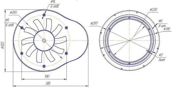 Фильтровентиляционная установка (ФВУ, вытяжка, приточный вентилятор)